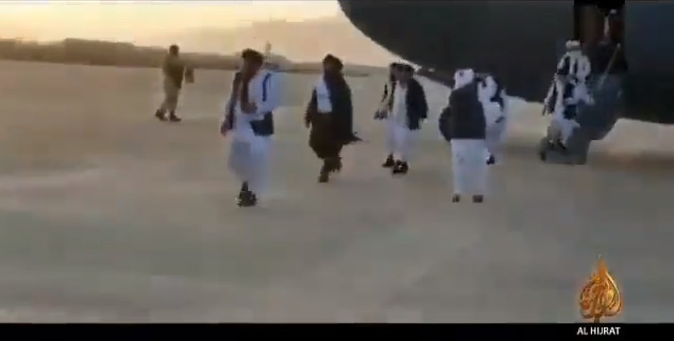 Taliban news outlets provided footage of a man they identified as Baradar stepping off a military plane in Kandahar