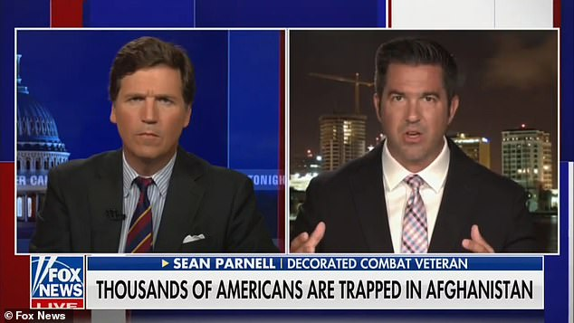 Sean Parnell, a Senate candidate and US veteran, appeared on the show and agreed with Carlson's concerns