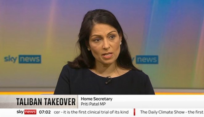 Priti Patel today batted away Tory calls to more than double the government's vow to take 20,000 Afghan refugees - but said the number of interpreters and support staff given safe haven will rise