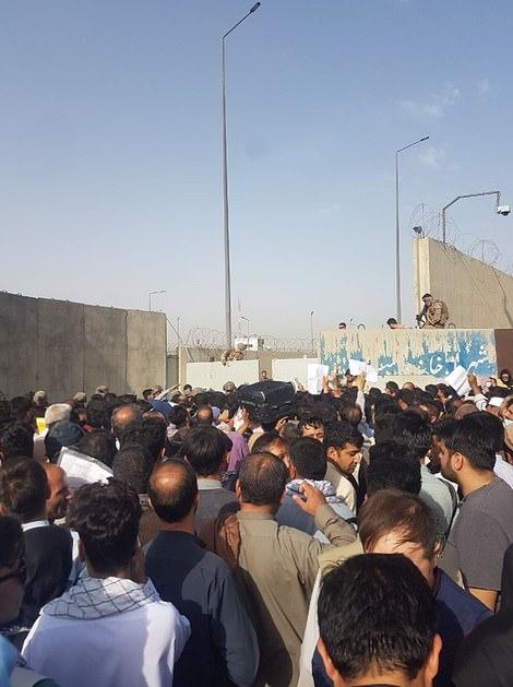 Crowds at north entrance