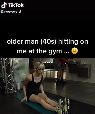 Avery, 19, was stretching on a mat at her gym when the man approached her