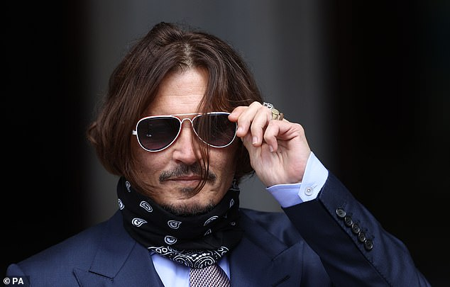 Depp (pictured in July 2020) lost his suit against The Sun in November after a judge ruled the paper's claim the Pirates of the Caribbean actor was a 'wife-beater' was 'substantially true'