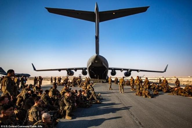 There are now 4,500 troops on the ground at the airport in Kabul including1300 marines but the people outside the airport walls can't get to them safely and there is no presence in the town of any US military