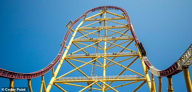The rollercoaster is 420ft. tall and was last inspected in May, with a following inspection due in September. Ohio law requires rollercoasters to be inspected twice a year