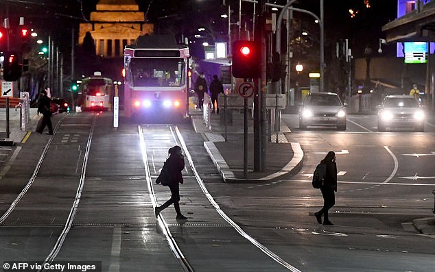 Many have slammed the state's curfew laws, calling measure a cruel over-reach that's not based on science (pictured, Melbourne under curfew)