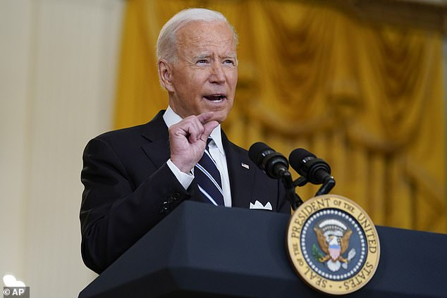 'If you aren't going to fight COVID-19, at least get out of the way of everyone else who's trying,' President Joe Biden said Wednesday, as he picked a fight with GOP governors who have used their power to try to prevent local districts from requiring mask usage in schools