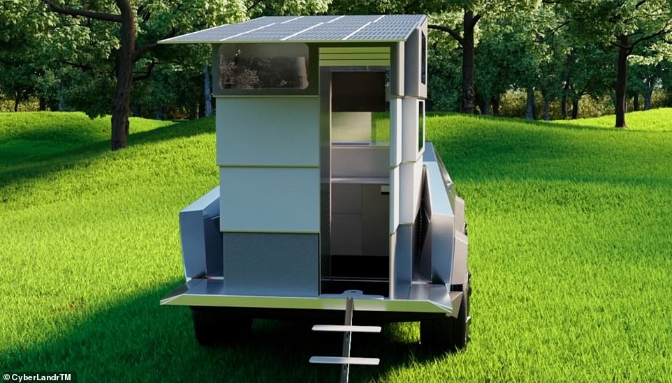 According to the team behind CyberLandr, the camper attachment will make the truck perfect 'for wilderness and urban adventures'