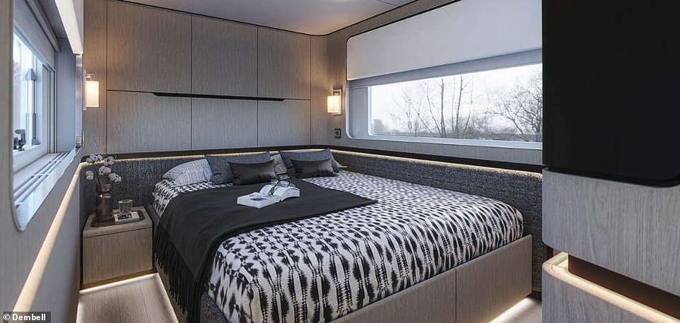 The master suite has a king bed and 55-inch TV