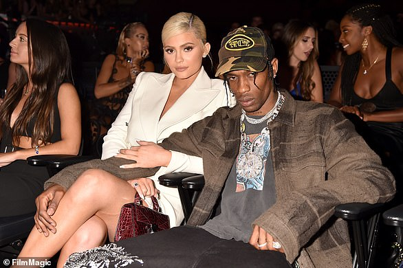 Back on! The couple appeared to be back together after they went to an NYC gala in June and Travis called Kylie 'wifey' on stage; seen in 2018