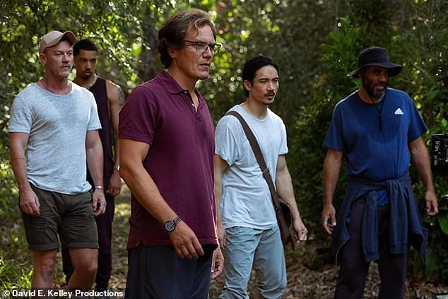 Safe space: Elsewhere, the Filipino-Canadian actor noted that he felt very comfortable working with big-name stars in a judgement-free space. Pictured in left to right is Luke Evans,Melvin Gregg, Michael Shannon, Manny and Bobby