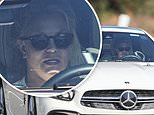 Britney Spears takes gleaming white Mercedes out for a spin in LA