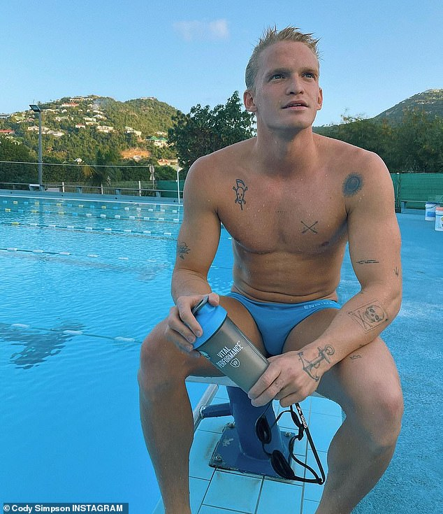 Determined: The young star, who made a bold charge at Olympic glory after many years away from the sport, placed last in the men's 100-metre butterfly final at the Australian Olympic Trials last month.Cody has vowed to 'come back stronger next year'