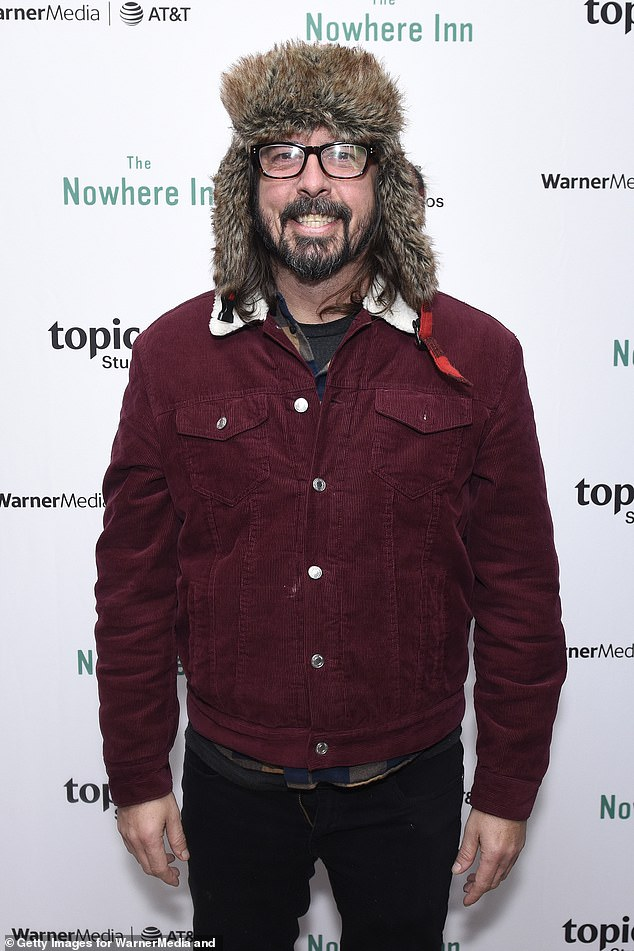 Outspoken: The former Nirvana drummer did point out that 'when people ask me for an opinion I tend to give one'; he is seen in 2020