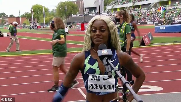 Sha'Carri Richardson placed last in the 100 meters at the Nike Prefontaine Classic at the University of Oregon on Saturday