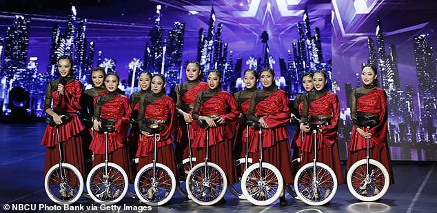 First up:The season 16 quarterfinals episode kicked off with a unicycle dance performance group from Japan called UniCircle Flow