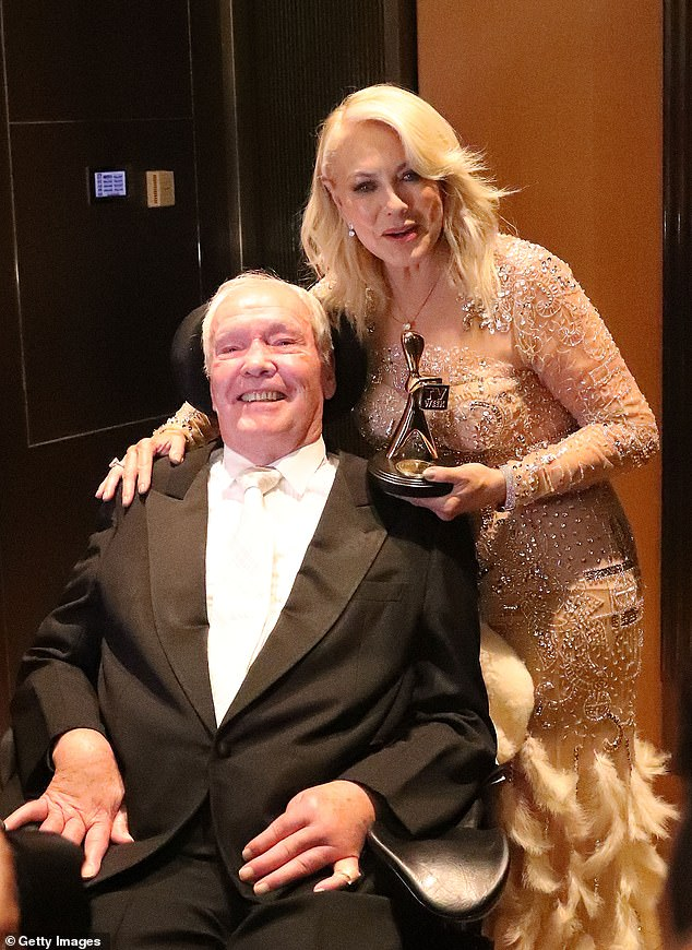 Heartbreaking:John died at the age of 78 in February 2019 after a tragic fall in 2016 left him wheelchair bound