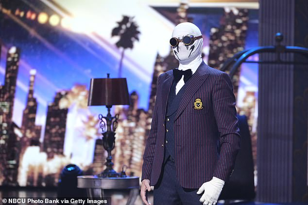 Scary act:Klek Entos, a magician who wore a white mask, goggles and carried an axe, said in his introduction that an accident left him changed and he became a monster