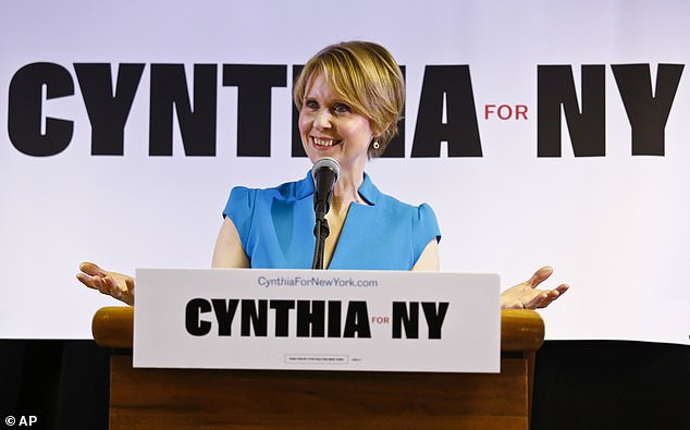 Lost out:Three years ago, Nixon announced her campaign for Governor of New York but lost in the Democratic primary to Cuomo with 34% of the vote to his 66%