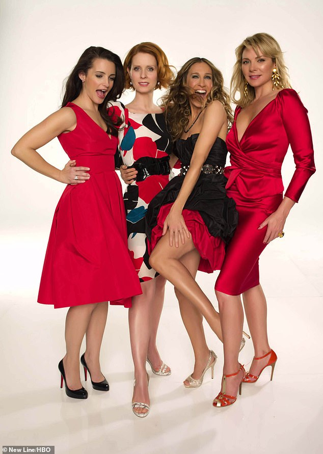 Award-winner: Nixon won an Emmy for her portrayal of Miranda Hobbes in Sex And The City (pictured L-R with co-stars Kristin Davis, Sarah Jessica Parker and Kim Cattrall)