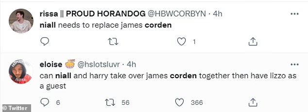 The new Irish Corden?Taking to Twitter following his guest appearance on the late night talk show, fans compared Niall to the Gavin and Stacey star