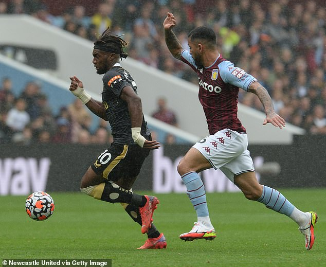 Archer only just missed out on a place in Villa's matchday squad for their 2-0 win against Newcastle on Saturday (above)