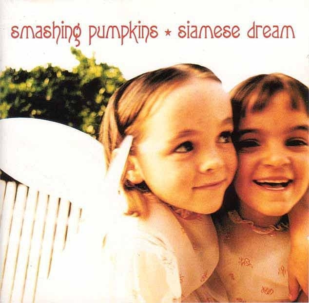 The 1993 album Smashing Pumpkins famously starred two smiling young girls who donned fairy wings (pictured)