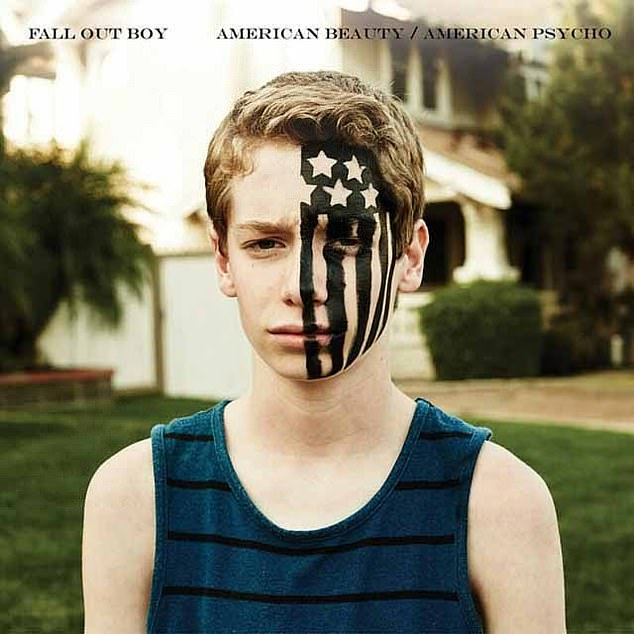 Jake Karlen featured on the Fall Out Boy's American Beauty/American Psycho album cover in 2015