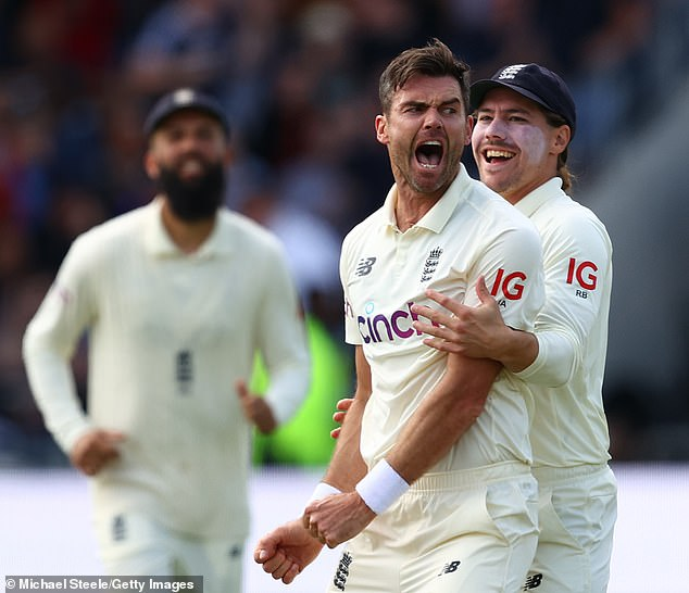 Jimmy Anderson starred yet again for England on a simply brilliant day against India