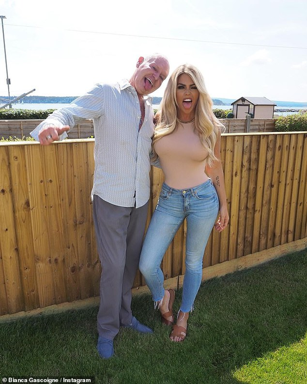 Reunited:Bianca Gascoigne, 34, revealed she had been reunited with her dad Paul, 54, on Wednesday and took to Instagram to share a fun series of snaps of their day together in Poole