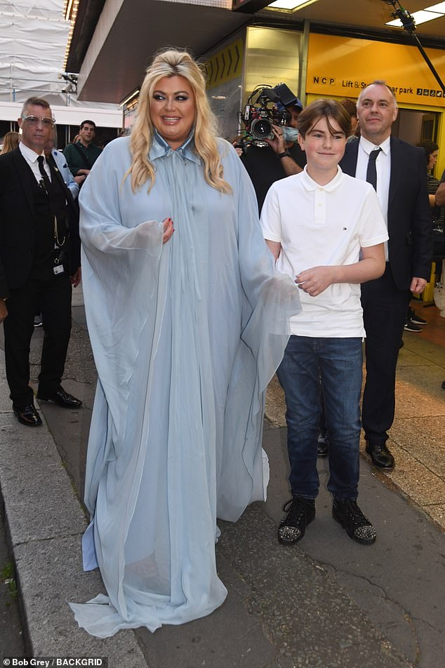 Family: Gemma was joined at the show by her 13-year-old nephew Hayden