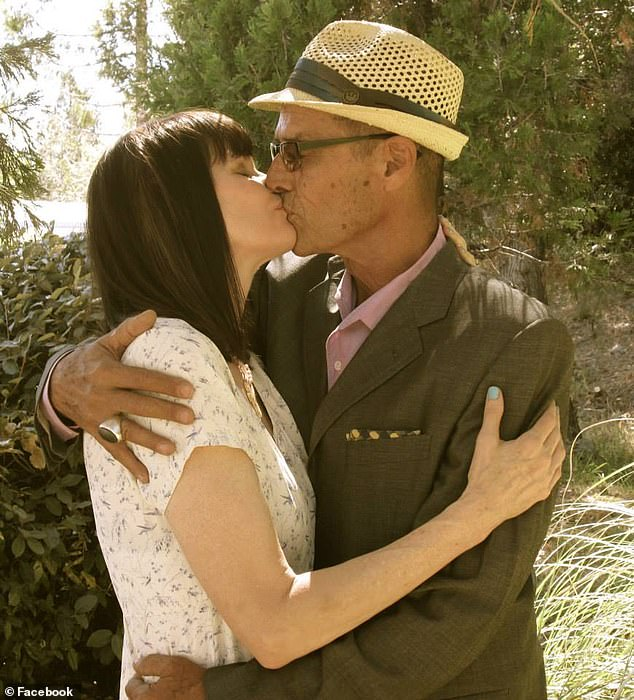 Sweet embrace:He is survived by his second wife Jodi Lister whom he wed in 2014
