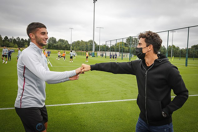 Marquez (right) revealed he was impressed with the way Guardiola controls his City squad