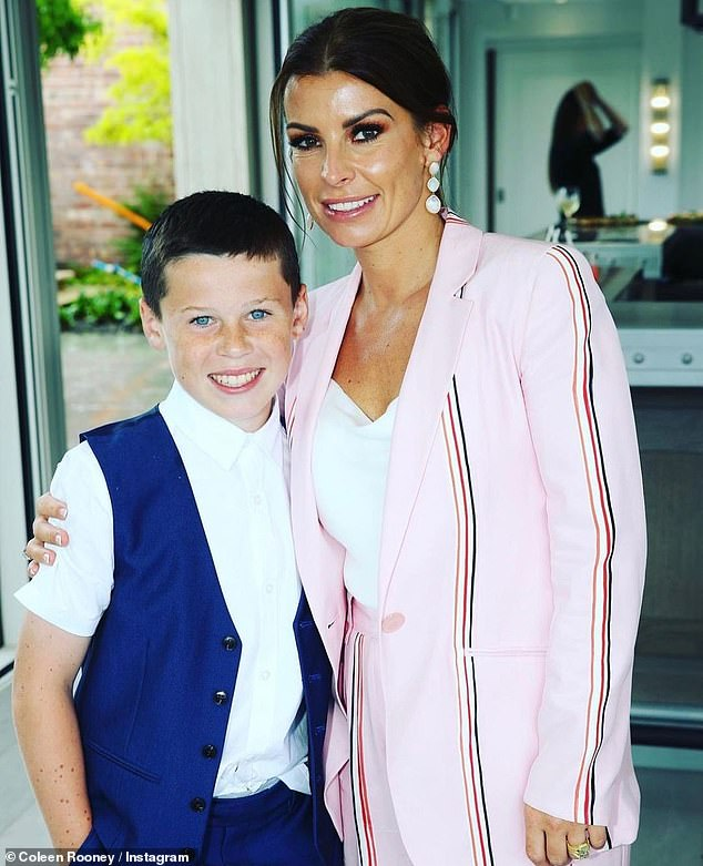 Proud mum:Elsewhere on Wednesday, the Scouse star shared a stunning snap of her with son Kai Wayne, 11