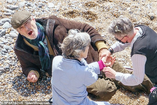 Final scenes:Rupert Everett and Gina McKee were recently spotted filming the final dramatic scenes of future blockbuster My Policeman