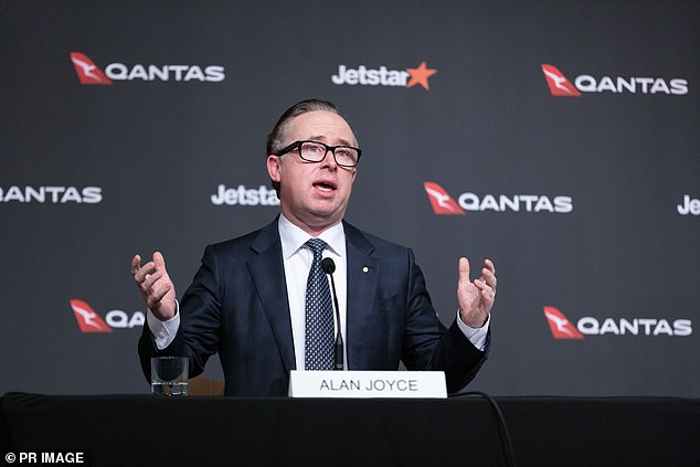 Qantas chief executive Alan Joyce admitted on Thursday a requirement for fully vaccinated Australians to quarantine for 14 days upon their return from overseas was a threat to profitable international travel