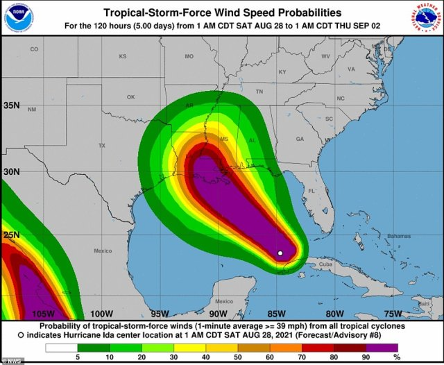 After battering Cuba on Friday with 80 mile per hour winds, Ida began churning northwest this morning, the National Hurricane Center said. The agency expects the storm to escalate sharply before reaching US shores on Sunday