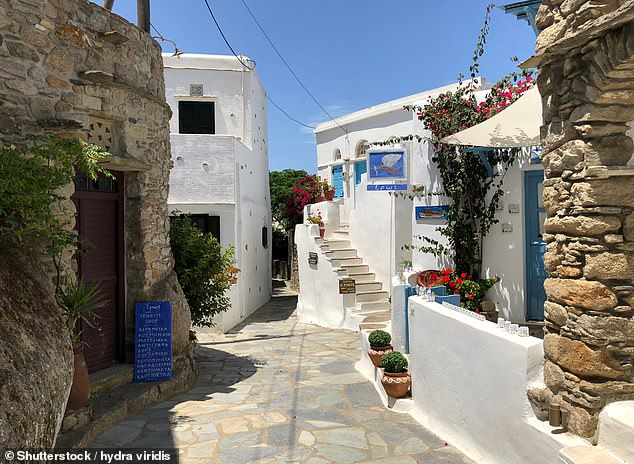 'The streets of Volax (pictured) are impossibly romantic,' saysAnastasia Miari. She recommends holidaymakers add the village to their Tinos 'hit-list'