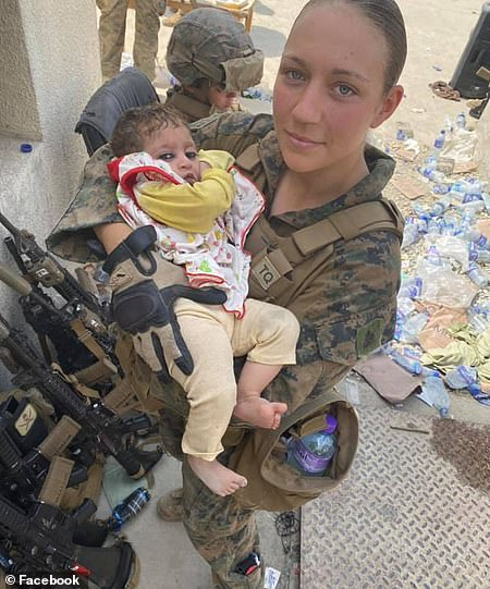 Marine Sgt. Nicole Gee, 23, of Roseville, California was among those killed in the attack in Kabul