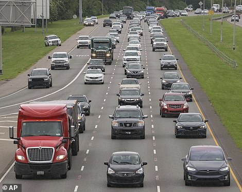 Today, traffic is bumper-to-bumper on Interstate 10 as Louisans attempt to evacuate before this evening, per the recommendation of New Orleans Mayor LaToya Cantrell