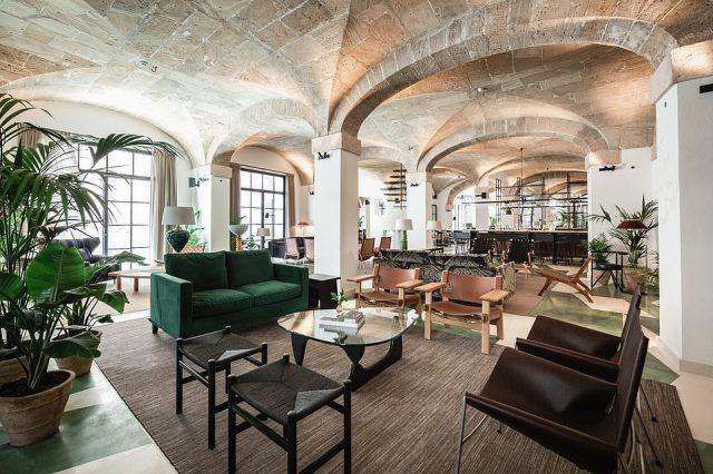 The hotel has been transformed into a hotel bySwedish studio Wingardhs and Spanish firms Jordi Herrero Arquitectors and Eduardo Garcia Acuna Arquitecto