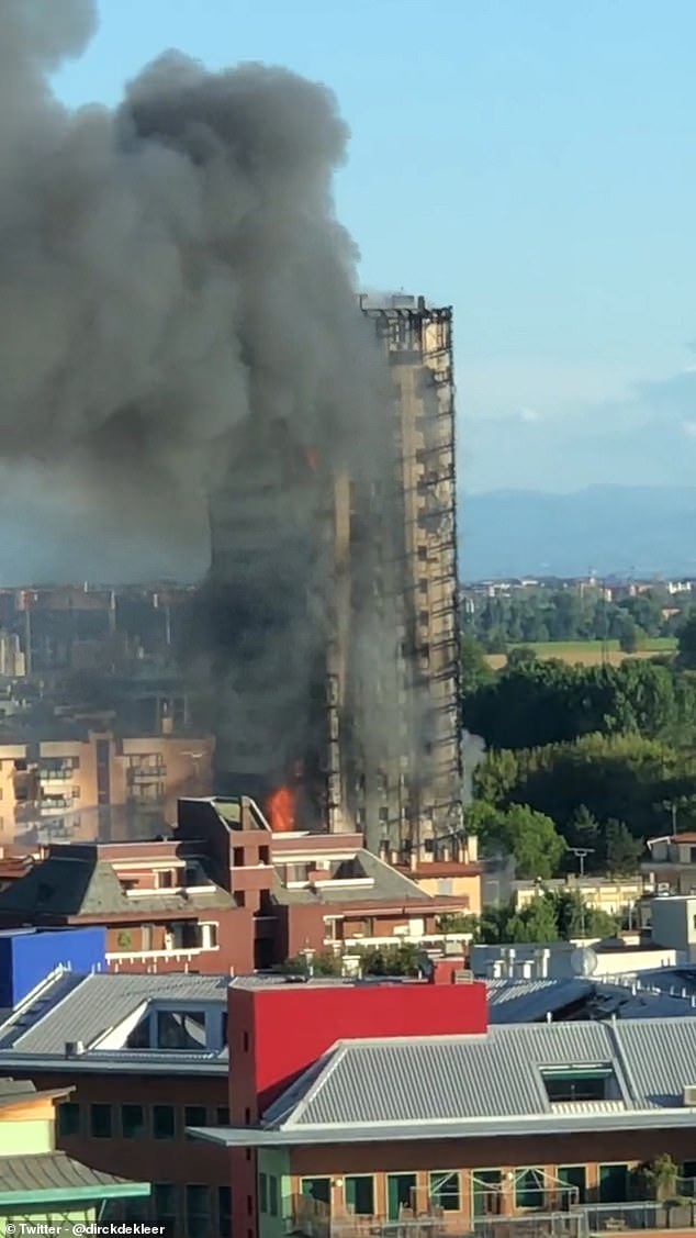 One of the building's residents told Italian news website ANSA that residents were assured the panels covering the building were fire-resistant.
