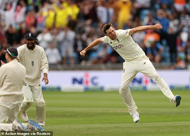 Craig Overton (right) also performed well as England levelled the series against India