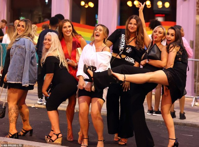 Crowds of party-goers swapped a night in at home to hit the numerous bars in the city and celebrate with their friends into the small hours