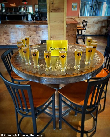 Another display at 7 Hamlets Brewing Company in Westmoreland, New York