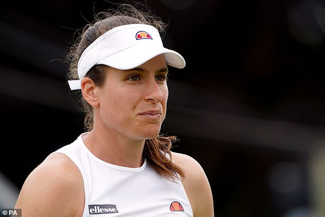 Jo Konta had to withdraw because of an injury to her left thigh hours before her match