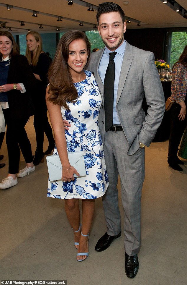 Famous ex: Giovanni previously dated Corrie actress, Georgia May Foote, 30, when he partnered with her on Strictly in 2015 (pictured in 2016)