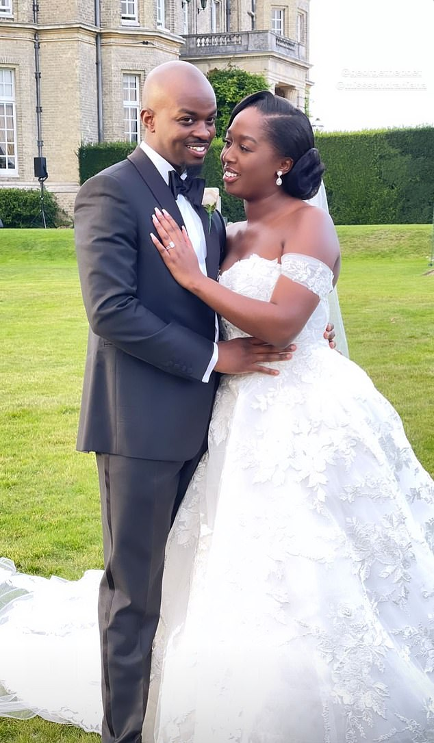 The 30-year-old from North-West London tied the knot in Buckinghamshire on Saturday with his business manager and long-term girlfriend, Sandra Makumbi, 28