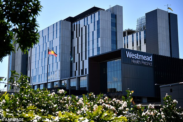 NSW recorded another 1164 Covid cases and three deaths, as medics warned some hospitals and healthcare workers were at breaking point. (Pictured, Westmead Hospital in Sydney's west)