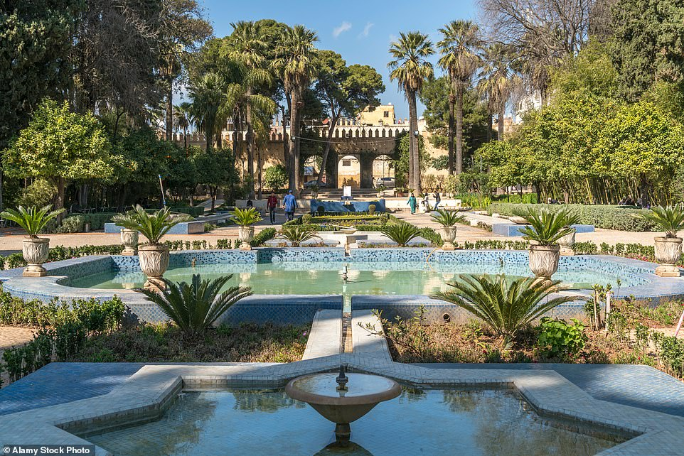 Green oasis:The verdant Jardin Jnan Sbil right outside the medina. The gardens were planted more than 100 years ago