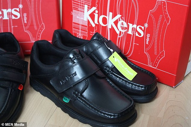 One parent recently took to Mumsnet to question a different schools' uniform policy, asking whether it would be unreasonable to send her son in wearing Kickers (file photo, above) on his first day.The purchased shoes, named 'Reasan Lace Adult', are described as an 'all-time favourite' with a 'flexible sport-inspired sole' and listed for £68 in the 'school' section on Kicker's website